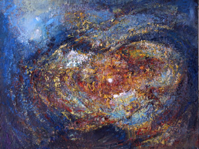 Abstract painting Vibrations of universe Gravitation by Ararat Petrossian