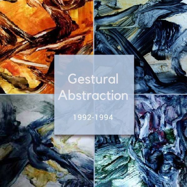 Gestural Abstraction - Collection of abstract paintings by Ararat Petrossian
